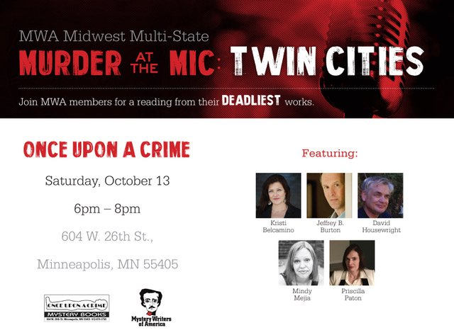 Murder At The Mic, Twin Cities, Once Upon A Crime, Mindy Mejia, Event, Thriller Author
